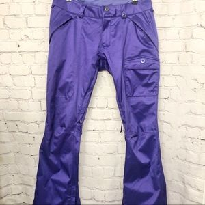 BURTON DRY RIDE PURPLE SNOWBOARD SKI PANTS SMALL
